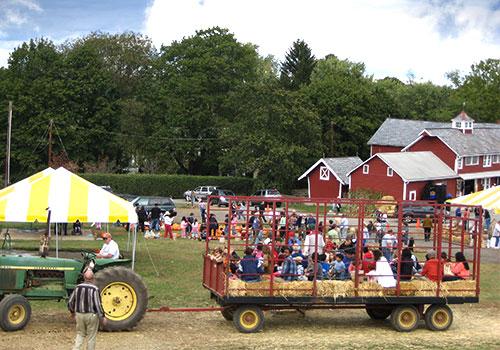 Educational field trips of the cider press, pick your own apple and peach orchards, and farm at Melick's Town Farm in Oldwick, New Jersey
